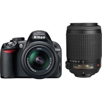 D3100 14MP DX-format Digital SLR Kit w/ 18-55mm VR and 55-200mm VR Lenses