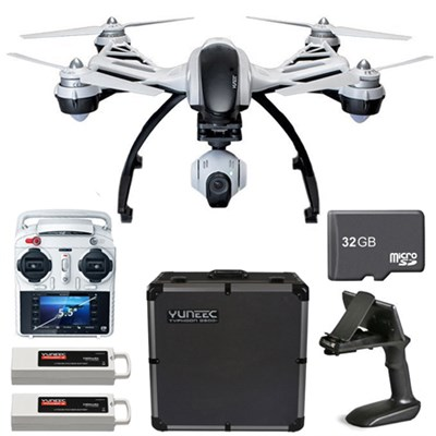 Q500+ Typhoon Quadcopter Drone + 3-Axis Gimbal Camera, Case & 32GB MicroSD Card