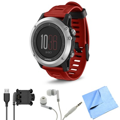 fenix 3 Multisport Training GPS Watch Silver Bundle