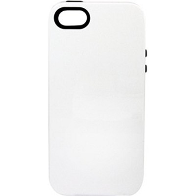 Inlay Hybrid Case for iPhone 5 - Halfmoon (White/Black)