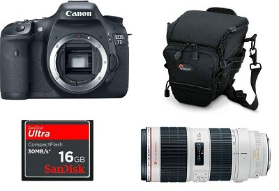 EOS 7D 18 MP CMOS Digital SLR Camera with 3-inch LCD 70-200mm II Pro KIT