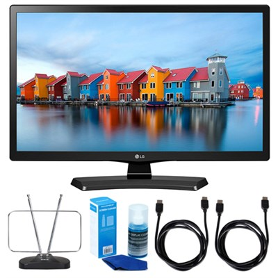 24LH4830-PU 24` Smart LED TV (2017 Model) w/ TV Cut The Cord Bundle