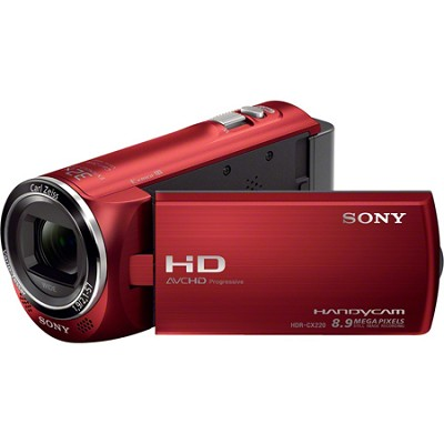HDR-CX220/R Full HD Camcorder (Red)
