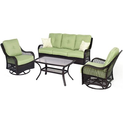 Orleans 4 Piece Outdoor Lounging Set - ORLEANS4PCSW