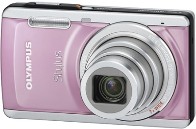 Stylus 7040 14MP 3.0` LCD Digital Camera (Pink) - REFURBISHED