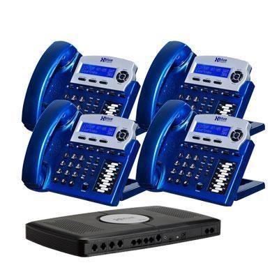 X16 6 Line Phone Sys 4pk Blue