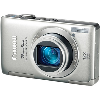 PowerShot ELPH 510 HS Silver Digital Camera w/ 3.2 inch Touch Screen