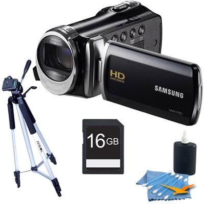 HMX-F90 52X Optimal Zoom HD Camcorder Black Kit