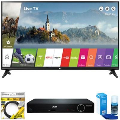 49` Class Full HD 1080p Smart LED TV 2017 Model 49LJ5500 + DVD Player Bundle
