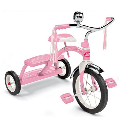 33P Classic Pink Dual Deck Tricycle