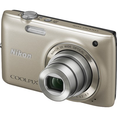 COOLPIX S4100 14MP Silver Compact Digital Camera w/ 3-inch Touch Screen