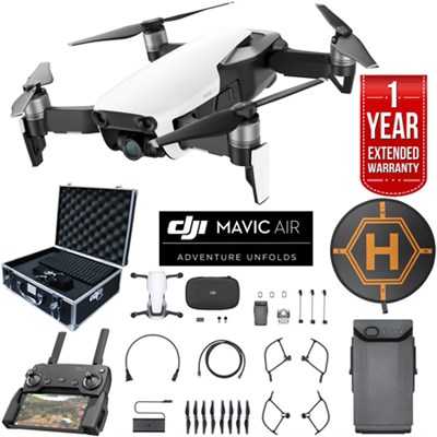 Mavic Air Arctic White Drone Bundle with Case Landing Pad & Extended Warranty