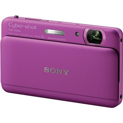 Cyber-shot DSC-TX55 Violet Slim Digital Camera w/ 3.3` OLED Touchscreen