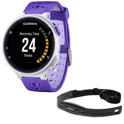Forerunner 230 GPS Running Watch + Heart Rate Monitor, Purple Strike