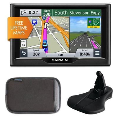 nuvi 57LM 5` Essential Series 2015 GPS w Lifetime Maps Mount & Case Bundle