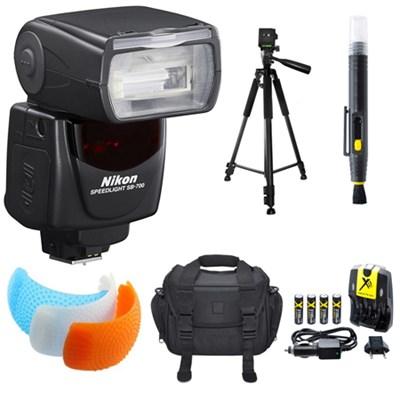 SB-700 AF Speedlight Flash for Nikon DSLR Cameras, Tripod, & Case Bundle