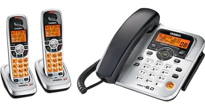 DECT 6.0 2-Handset Corded / Cordless Phone with answering system