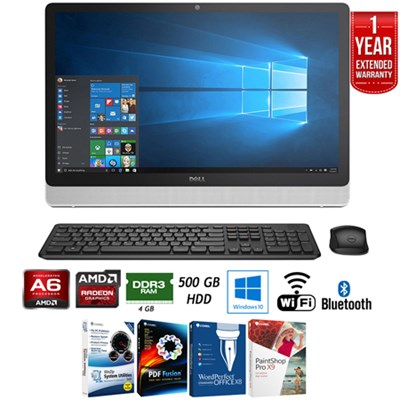 Inspiron i3455 23.8` All-in-1 PC - AMD A6 4/500GB + Extended Warranty Pack