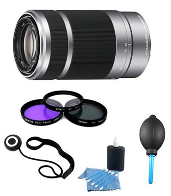 SEL55210 - 55-210mm Zoom E-Mount Lens Essentials Kit - Includes Filters and More