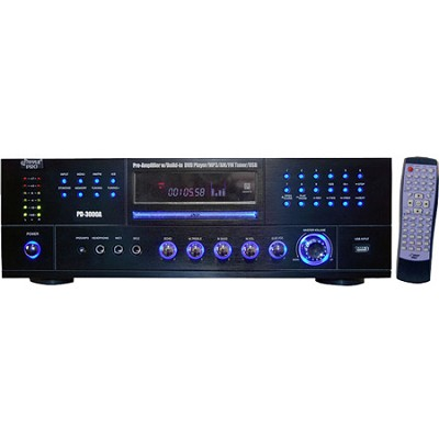 Home PD3000A 3000-Watt AM-FM Receiver with Built-In DVD/MP3/USB