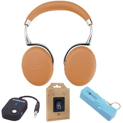 Zik 3 Wireless Noise Cancelling Bluetooth Headphones (Camel) Mobile Bundle