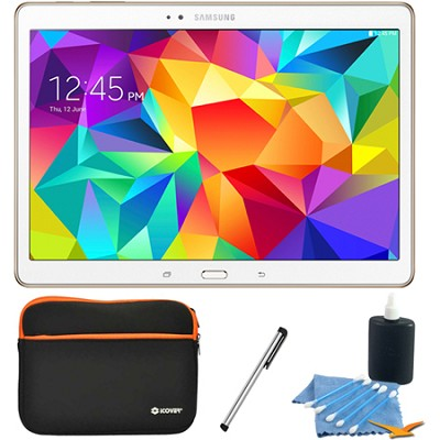 Galaxy Tab S 10.5` Tablet - (16GB, WiFi, Dazzling White) Accessory Bundle