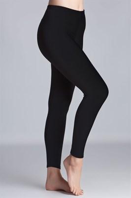 Seamless Full Length Leggings (Midnight Black) One Size