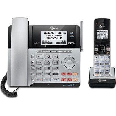 TL86103 2-Line Corded/Cordless Answering System w/ Caller ID/Call Waiting