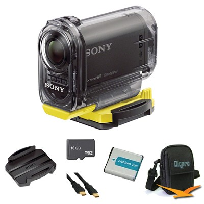 HDR-AS15/B Compact POV Wi-Fi Enabled Action Camera Adhesive Mount Bundle
