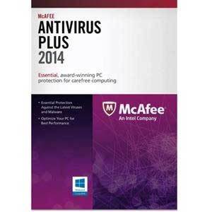 McAfee Virus Scan 2014 (1 Year, 1 User)- Virus Protection, PC Optimizer