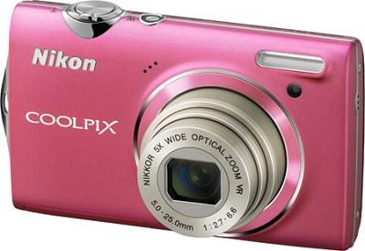 COOLPIX S5100 12MP Slim Pink Digital Camera w/ 720p HD Video