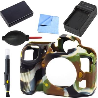 Nikon D500 Silicone Protection Cover Bundle for your DSLR EN-EL15 Battery Camo