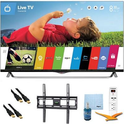 49` 120Hz 2160p 3D Smart LED 4K Ultra HDTV w/ Mount & Hook-Up Bundle (49UB8500)