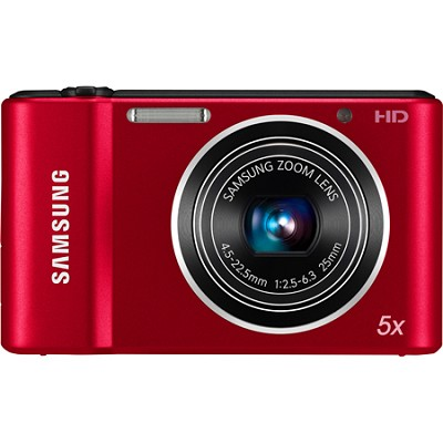 ST66 16 MP 5X Compact Digital Camera - Red