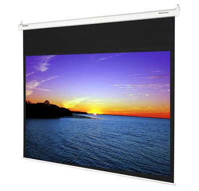 DS-GWII9092P - 92 inch Manual Pull-Down Gray Screen with 1.8 Gain Enhancement