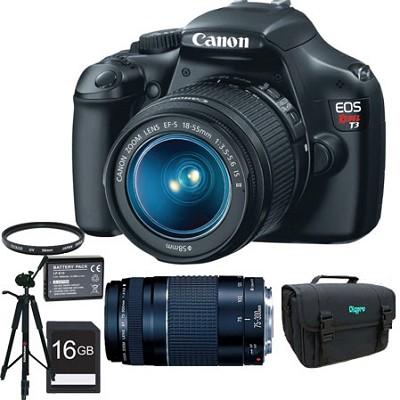 EOS Rebel T3 SLR Digital Camera w/ 18-55mm & 75-300mm Ultimate Rebel Experience