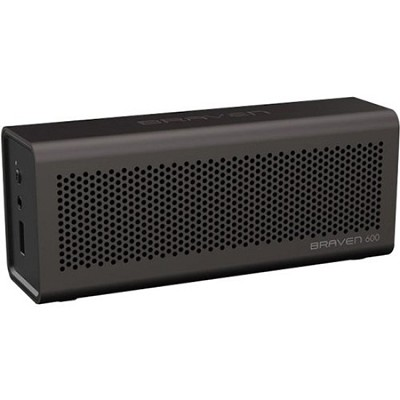 600 Bluetooth Speakerphone and Charger for iPhone, iPod, iPad (Gray)
