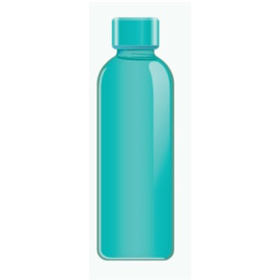 Graphite Bottle 16.9 Ounce, Teal