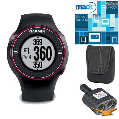 Approach S3 Black Touchscreen GPS Golf Watch w/ 27,000+ Worldwide Courses Bundle