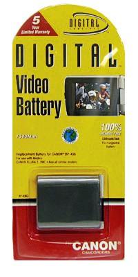 8 Pack BP-406L 1100mAh Lithium Ion Battery F/Optura 300
