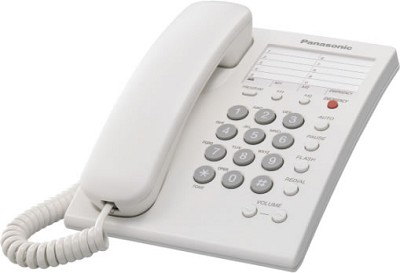 KX-TS550W  1 Line Corded Telephone with 3 One-Touch Dialer Stations