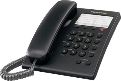 KX-TS550B  1 Line Corded Telephone with 3 One-Touch Dialer Stations