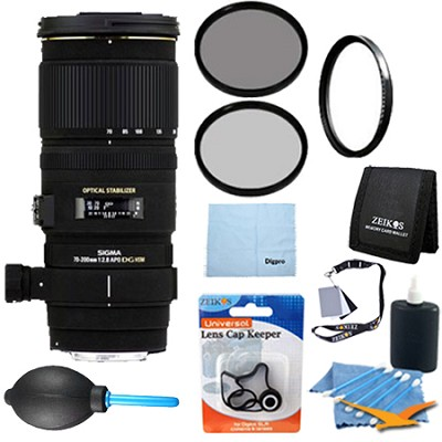 70-200mm f/2.8 APO EX DG HSM OS FLD Zoom Lens for Nikon DSLRs - Pro Lens Kit