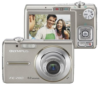 FE-280 8MP Digital Camera (Silver)