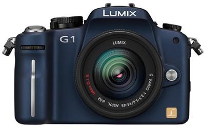 G1-12.1MP SLR Digital C. (Blue) w/ Lumix G Vario 14-45 mm f/3.5-5.6 OPEN BOX