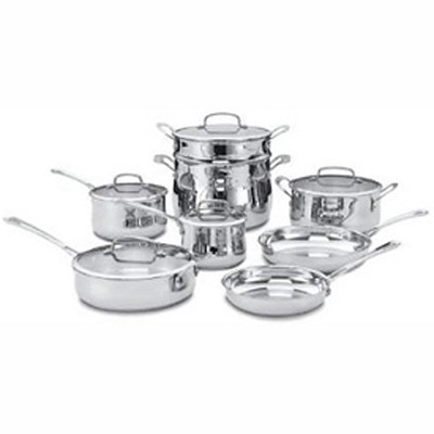 44-13 - Contour Stainless 13 Piece Cookware Set