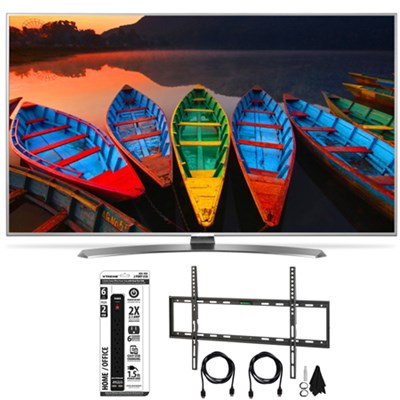 65UH7700 65` HDR 4K UHD Smart LED TV TruMotion 240Hz Flat Wall HDMI Bundle