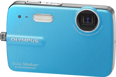 Stylus 550 10MP Waterproof Digital Camera (Blue) - REFURBISHED
