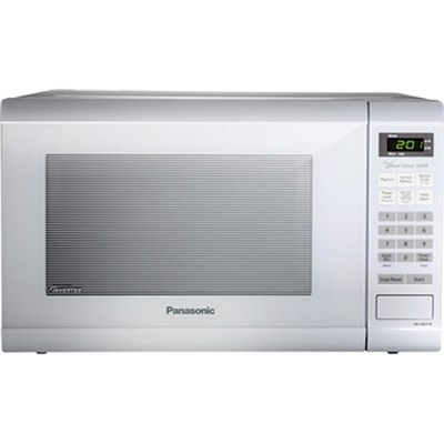 1.2 Cubic Foot 1200 Watt Family Size Microwave Oven, White (NN-SN651WA)