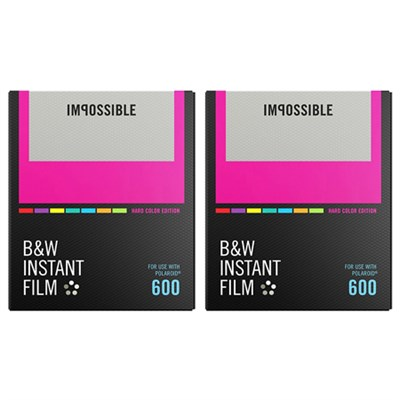 2-Pack Black & White Instant Film Color Frame for Polaroid 600-Type Cameras